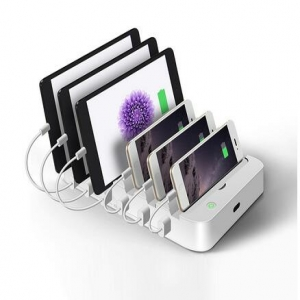 6 port charging station with foldable docke