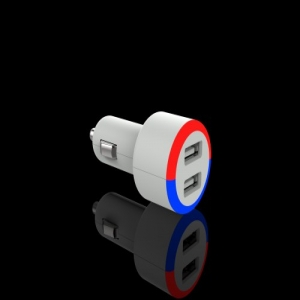 Dual USB Car Charger With LED indicator