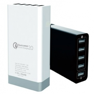 5 port USB desktop charger